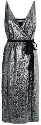 Robert Rodriguez Sequin Wrap Midi Dress