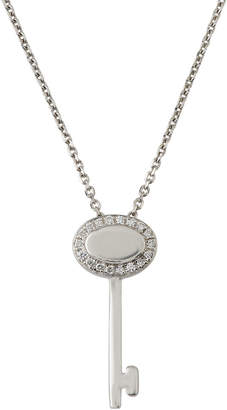 Giantti By Stefan Hafner 18k White Gold Diamond Key Pendant Necklace (0.07 ct)