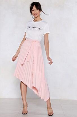 Nasty Gal Turn the Pleat Up Midi Skirt