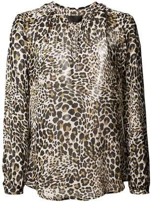 Nili Lotan leopard print blouse