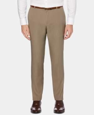 Perry Ellis Men's Portfolio Extra-Slim Fit Performance Stretch Heather Non-Iron Dress Pants