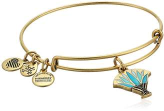 Alex and Ani Womens Blue Lotus EWB Bangle Bracelet