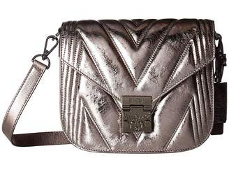 MCM Patricia Quilted Metallic Shoulder Small