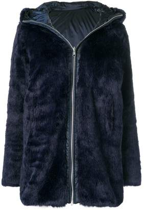 Colmar hooded faux fur coat