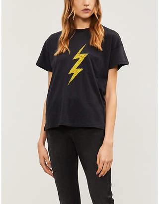 Rag & Bone Lightning bolt-print cotton-jersey T-shirt