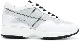 Hogan stripe detail sneakers