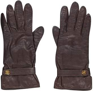 Chanel Brown Leather Gloves