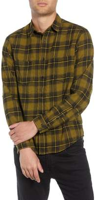 The Kooples Destroyed Check Flannel Shirt