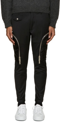 Dsquared2 Black Twill Cargo Pants $960 thestylecure.com