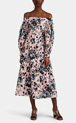 Erdem Women's Pollina Floral Cotton Off-The-Shoulder Dress - Pink