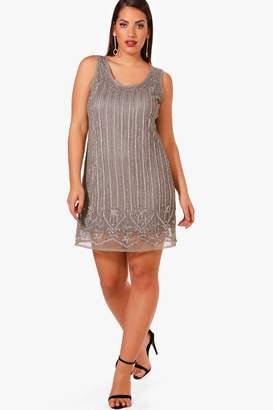 boohoo Plus Sequin Sleeveless Shift Dress