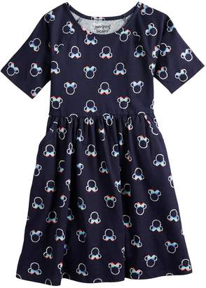Disney's Minnie Mouse Girls 4-12 Glittery Rainbow Print Dress by Jumping Beans