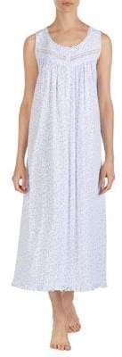 Eileen West Printed Cotton Nightgown