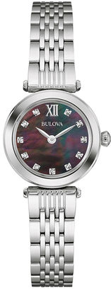 Bulova Womens Diamond-Accent Stainless Steel Bracelet Watch 96P169 $224.25 thestylecure.com