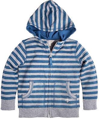 Burt's Bees Baby French Terry Stripe Zip Organic Cotton Hoodie