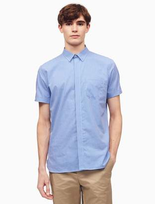 Calvin Klein classic fit check roll-up shirt