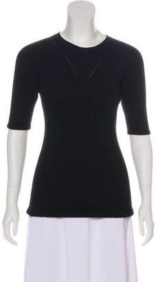 Chanel Short Sleeve Cashmere Top