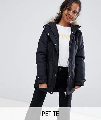 Vero Moda Petite Faux Fur Hooded Parka