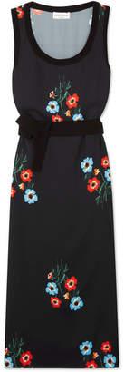 Sonia Rykiel Floral-print Crepe Midi Dress - Black