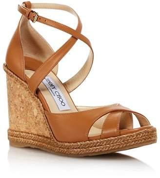 Jimmy Choo Women's Alanah 105 Cork Wedge Heel Sandals