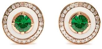 Selim Mouzannar - 18kt Gold, Diamond & Tsavorite Earrings - Womens - Green