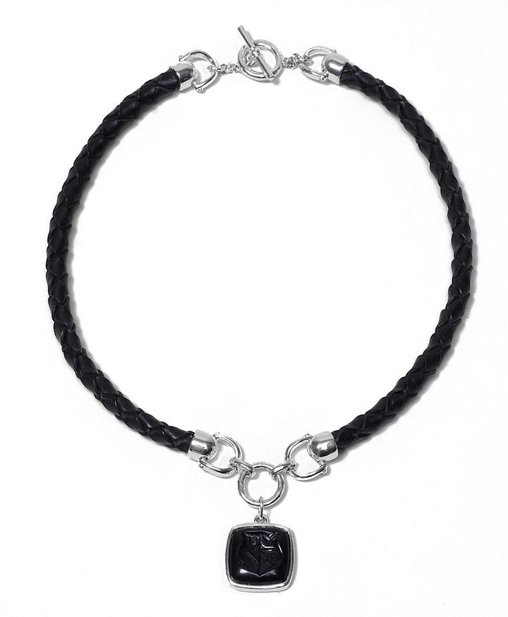 Equestrian Leather Necklace