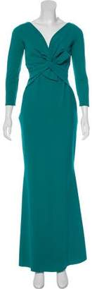 Chiara Boni Long Sleeve Maxi Dress
