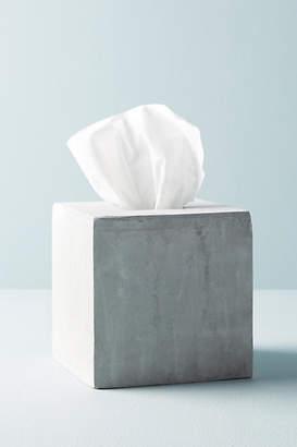 Anthropologie Sedra Cement Tissue Box
