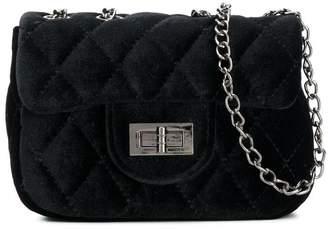 MonnaLisa quilted velvet crossbody bag