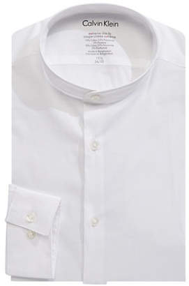 Calvin Klein Cotton-Blend Long Sleeve Dress Shirt