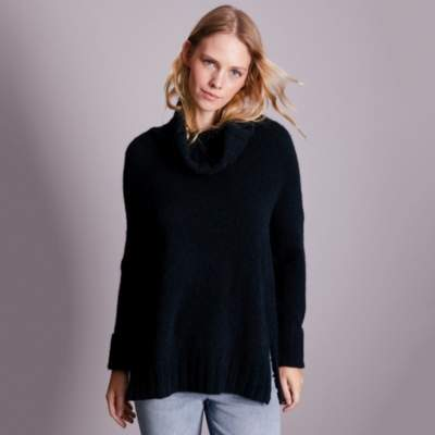 Ribbed Roll-neck Jumper with Alpaca