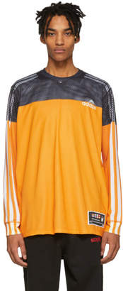 adidas by Alexander Wang Black and Yellow Photocopy Sweater