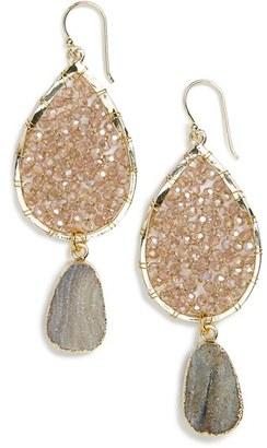Women's Panacea Smoky Agate Drop Earrings $48 thestylecure.com