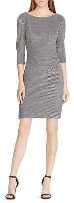 Ralph Lauren Knit Jacquard Sheath Dress