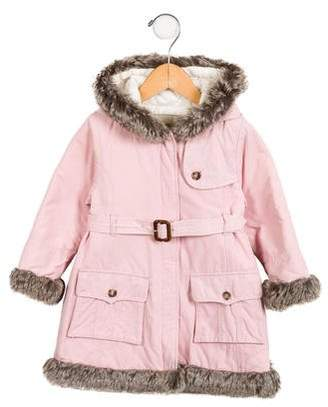 Burberry Girls' Quilted Hooded Parka