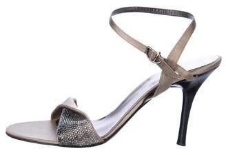 Giorgio Armani Embellished Satin Sandals