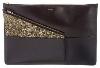 Perrin Embellished Leather Clutch
