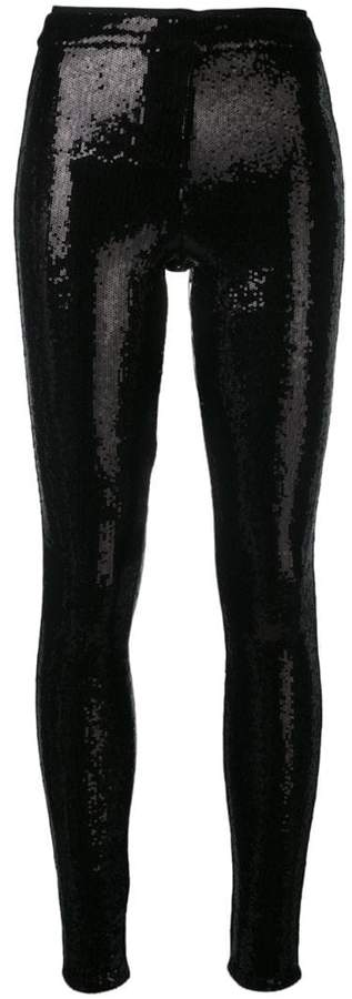 Alice+Olivia sequinned skinny trousers