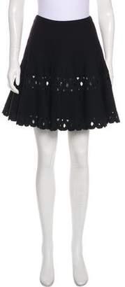 Alaia Wool Mini Skirt