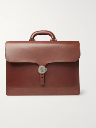 Audley James Purdey & Sons Leather Briefcase - Men - Brown