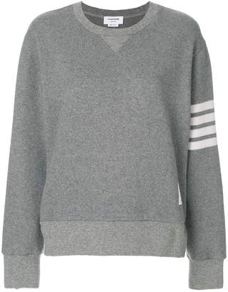 Thom Browne Engineered 4-bar Stripe Crewneck Sweatshirt In Double Face Cashmere