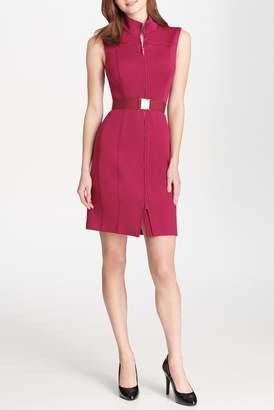 Iconic American Designer Sleeveless Front Zip Dress
