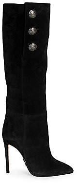 Balmain Women's Jane Suede Knee High Boots