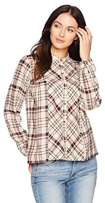 Lucky Brand Women's Plaid Peasant Shirt