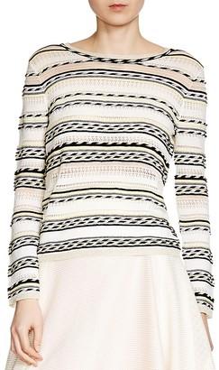 Maje Mauritani Striped Sweater $275 thestylecure.com