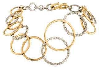 14K Diamond Interlocking Circles Bracelet