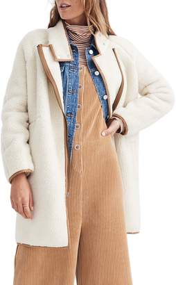 Madewell Faux Shearling Cocoon Coat