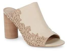 Pour La Victoire Helaine Nubuck Leather Mules