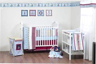 Bacati Plaids and Stripes Boys (Blue/Red/Khaki) 10 Piece Crib Set