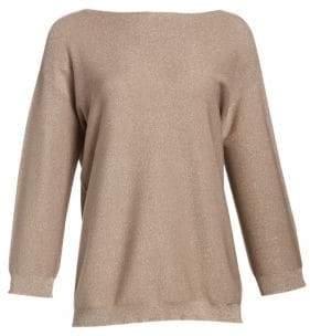 Fabiana Filippi Boatneck Lurex Relaxed Knit Sweater